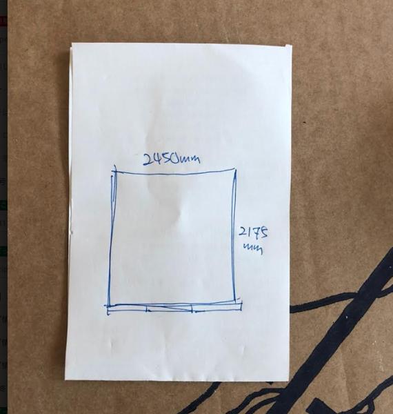 お客様からいたいだた部屋のサイズ